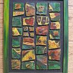 103  Schmetterlinge im Dschungel  |  Öl auf Hartfaserplatte, 2004, 43 x 33 cm, 136 (statt 160) Euro