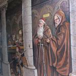 Fresque réalisée par le peintre Pierre Grenier (ruelle des Neufliers à Laon)