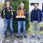 Gewinner Jahresmeisterschaft vlnr.: 3. Huber Xöidi; 1. Kehrli Alexander; 2. Huggler Thomas