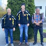 Gewinner Saustich vlnr.: 3. Bauer Markus; 1. Huber Xöidi; 2. Feller Roland