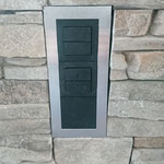 10.04.2019 Steckdosen in Chromstahl anbringen