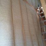 羊毛断熱材/バージンウール呼吸性防音断熱材施工写真