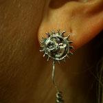 Sonne Mond Ohrhänger mit Patentverschluss