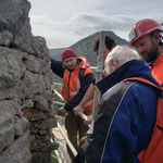 Lundi 17 mai - 1ère réunion de chantier en présence Lucien Bayrou