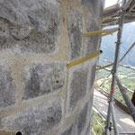 Lundi 14 juin - réunion de chantier - Etat de l'avancement de l'injection du coulis de chaux pour consolider les murs