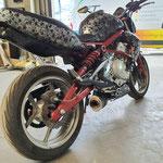 Wassertransferdruck Motorrad