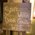 Save water, drink Gaillac wine ! (Avec modération!) / Au mas de Janita ©