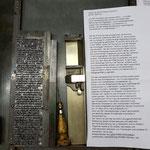 Die Bleispalte wächst und der erste Absatz des Textes ist geschafft