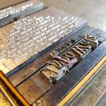 Die Satzform mit Maschinen- und Handsatzlettern