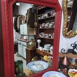 ancien miroir peint
