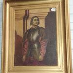 """Peinture sur bois """"Jeanne D'arc"""""""