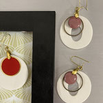 Florence Marquet Ceramiste - Boucles d'oreilles porcelaine