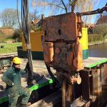 week 5: bij kade Niesternweg worden de heiwerkzaamheden afgemaakt