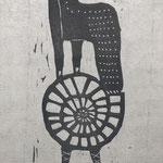 くるくる 木版画   ¥8,800(シート) 22cm×10cm
