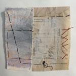 Fragment aus drei Zeitabschnitten (1 aus einer Serie von 6)