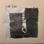 """Collage aus der Werkgruppe """"Fadenlauf"""""""