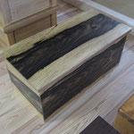 黒柿の収納BOX型ベンチイス