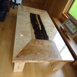 楓と黒柿のセンターテーブル
