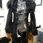 TEUFELIN Wendegilet (vorne grau, hinten schwarz) mit Mantel
