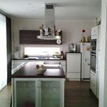 Plusenergie- /Passivhaus Gaibach - offener Küchenbereich