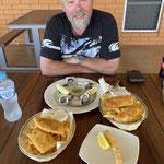 Austern und Codfisch zum Mittagessen für Marty