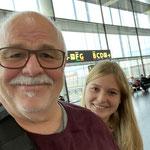 Letztes Selfie vor dem Flug