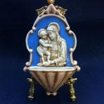 """32B - Acquasantiera stile Luca della Robbia """"Madonna con bambino"""""""
