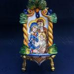 28B - Aquasantiera in ceramica dipinta a mano