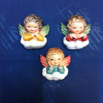 33A - Angeli in legno scolpiti a mano da appendere