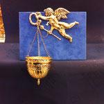 49 - Acquasantiera Angelo in argento fatto a mano