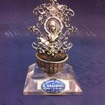 19B - Acquasantiera in argento fatta a mano Madonna