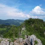 Blick retour über den Maisenkögerl Grat