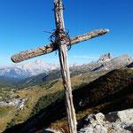 Dieses kleine Kreuz markiert die Goinger Festung