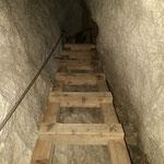 Über die Leitern geht es nach oben