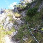 Seilversicherungen beim Gipfelanstieg