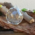 Schwemmholz Harmonie Engel Kristall Girlande Sol mit grossem Glaskristallanhänger, grünen Lampworkperlen, gelben & grünen Katzenaugen Glasperlen und indischen braunen Glasperlen, weissen Glanzperlen