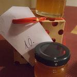 ...gefüllt mit Honig und Orangenmarmelade