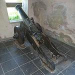 Kanone in Stellung