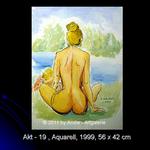 Akt 19, 56x34, Aquarell