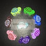 "Motivperle ""Schildkröte gross""(grüb, blau, flieder, purpur, rosa, braun, lemon, türkis)"