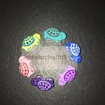 "Motivperle ""Schildkröte klein"" (türkis, blau, flieder, purpur, rosa, lemon)"