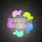"""Schildkröte"" (lemon, blau, türis, lila, rosa)"