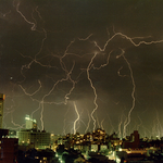 Thunder storm over Sydney. From Wikicommons.