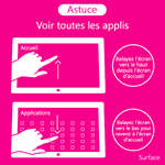 Astuce tablette Surface sous Windows 8 et RT.