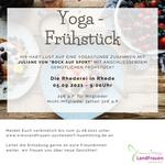 05.09.2021 - Yoga Frühstück in der Rhederei in Rhede