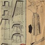 Jupe femme 1940-50