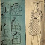 robe femme fin 40 début 50