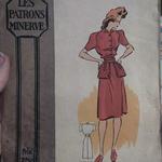 Robe femme fin 1940
