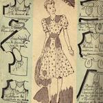 robe femme années 40