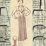 Ensemble jupe-culotte et veste années 40